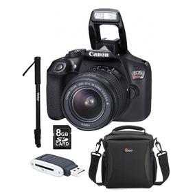 Câmera Canon Eos Rebel T6 C/ Lente + Cartão 8gb + Acessórios