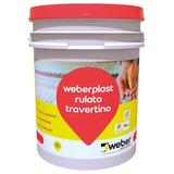 Revestimiento Plástico Weber Rulato Travertino 30 Kg