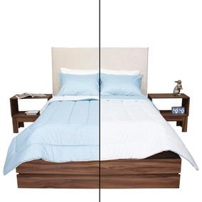 Edredones King Size Azul Claro 2 Vistas Envió Gratis