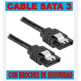 Cable De Datos Sata 3 - Con Broches De Seguridad