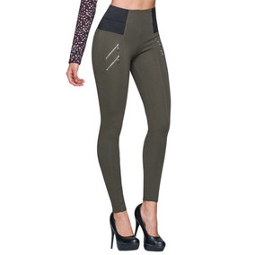 Leggings Casual Holly Land Color Verde Ps_166895