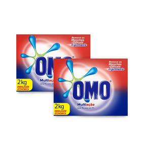Kit Sabao Omo Multiacao 2kg 30% Desconto Na 2un
