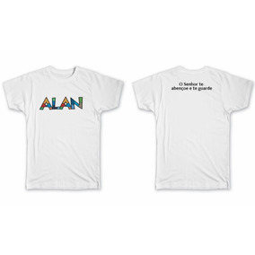 Camiseta Alan Camisa Blusa Nome Pop Festa Brinde Britto e8f7b95c68a