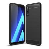 Estuche Protector Carbono Samsung Galaxy A7 2018 - Negro