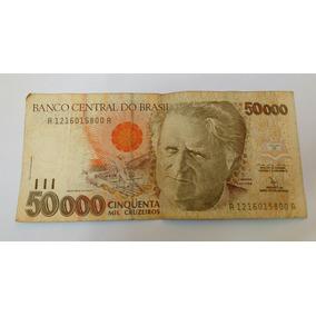 Cédula Antiga De 50.000 Cruzeiros