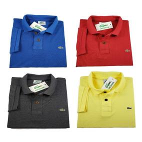 Kit 4 Camisetas Polo Basica Tamanho Especial Da G1 G2 G3 G4 0090359e3c347