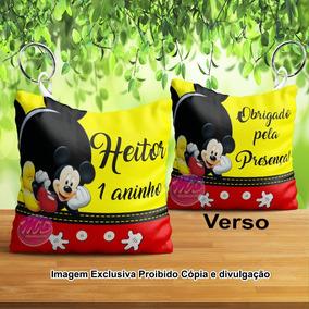100 Chaveiros Almofada Tema Mickey