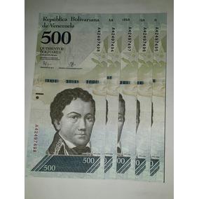 Cédulas Nova Venezuelana 5x 500 Bolivares