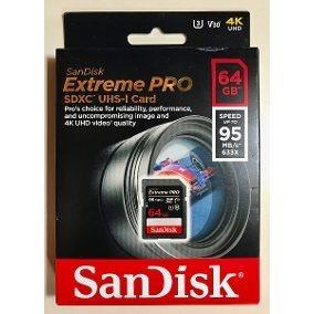Cartão Sd Sdxc Sandisk Extreme Pro 64gb 95mb/s Uhs-3 V30 4k