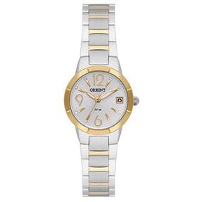 Relógio Orient Fem Pequeno Aço Prata E Dourado Ftss1098