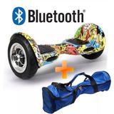 Skate Elétrico 10 Polegadas Bluetooth Hoverboard + Brinde