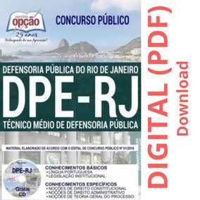 Apostila Dpe-rj 2019 - Técnico Médio De Defensoria Pública