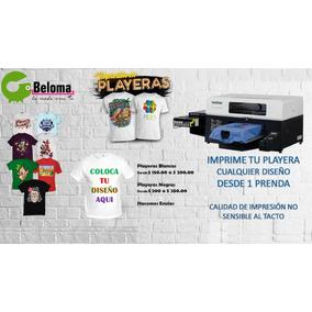 Playera Impresion Textil Directa Cualquier Diseño Beloma