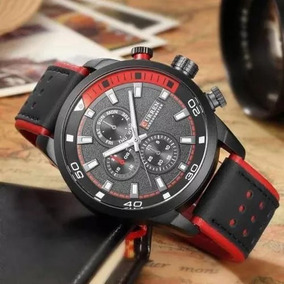 17e54cc93fb Relógio Curren 8250 Vermelho - Relógios no Mercado Livre Brasil