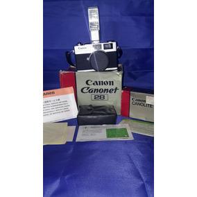 Camara Canon Canonet 28 Vintage 35mm Con 40mm Lente 2.8