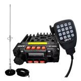 Radio Comunicador Px Vhf Uhf 8900 Pro + Ptt + Antena + Base