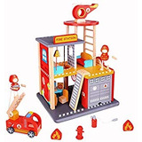 Usa Toyz Fire Station - Juego De 22 Casas De Muñecas De Made