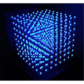 Cubo De Leds 3d 8x8x8 Azul Kit Para Montar Ultimas Peças