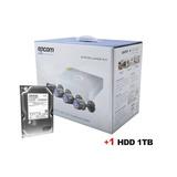 Circuito Cerrado Kit 4 Camaras Epcom Cctv + Disco Duro 1tb