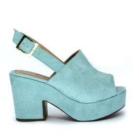 Calçados Femininos Sandália Zapplin Salto E Plataforma 1301