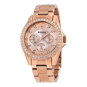 deb0d9dcdd0ca Relógio Fossil Rose Feminino Es2811 Original Frete Grátis - Relógios ...