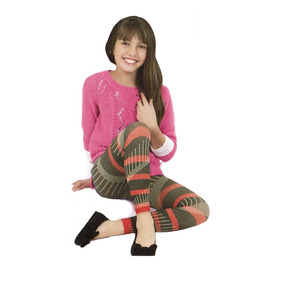 Leggings Dorian Grey Moda Tribal Girls Quetzaly 3-5 Años
