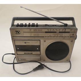 Rádio Portátil Com Toca Fitas Marca Seiko