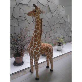 Girafa De 1,34metros Pelucia Safari Realista Alta Qualidade