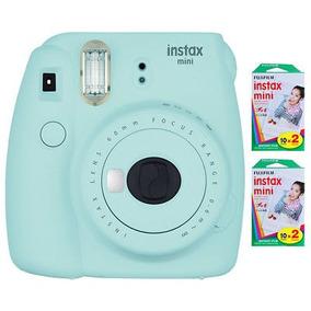 Fujifilm Instax Mini 9 Cámara Instantánea - Hielo Azul Con 4