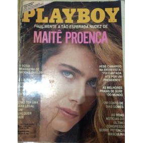Revista Playboy. Maitê Proença. Fevereiro/1987.