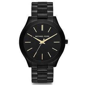 245ed6d29fcb4 Relógio Michael Kors Feminino Slim Runway Preto 4,2cm Mk3318 ...