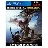 Monster Hunter World Ps4 Psn Original 1 Leg Em Português