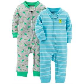 Set De 2 Pijamas Calientitas Para Su Bebe 2 Marca Carters