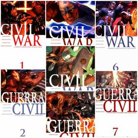 Marvel Capitán America Civil War Colección Completa 7 Cómics