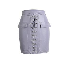 La Cintura Mini Falda Negro / Rosa Prpura / Luz Negro S