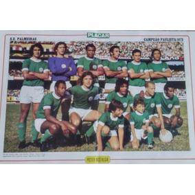 Pôster Nostalgia Palmeiras Campeão Paulista 1972