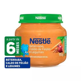 Papinha Nestlé Caldo De Feijão Legumes Beterraba 6 Pote Novo