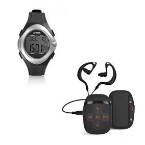 Mp3 Player Sport Àprova Dágua + Relógio Touch Monitor Cardía