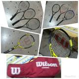 Bolso Wilson De Tennis + 7 Raquetas (1 Nueva)