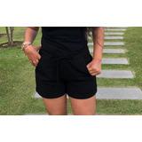 Short Malha Blogueiro Feminino Moda
