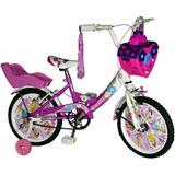Bicicleta De Nena R14 Carolina Full Necchi. La Mas Linda