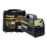 Máquina De Solda Inversora Mma 200 110/220v Bivolt Titanium
