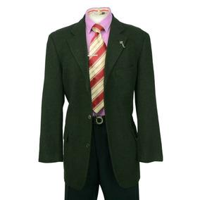 Remate Saco Casual Hugo Boss Color Verde Talla 44r