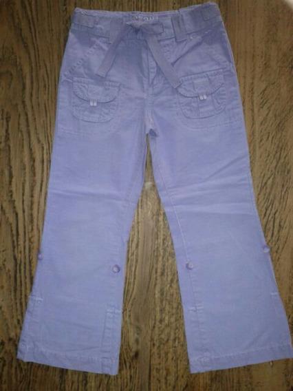 Pantalon Cargo Y Capri De Nena Lila 2 En 1 Importado Usa T.6