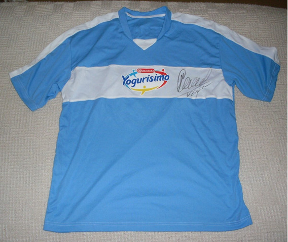 Camiseta Yogurísimo #8, Firmada Por Verón