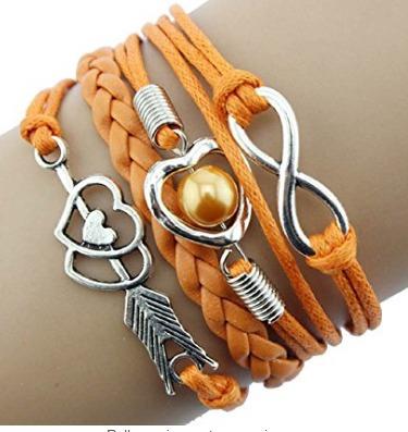 Bracelete Amor Infinito Laranja - Glam0060