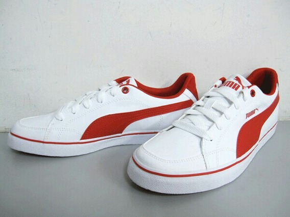 Zapatillas Puma 44.5 / 11 U.s. Court Point Vulc Blanco-rojo