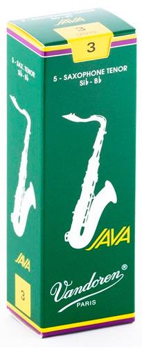 Pack De Cañas Vandoren Java Sr273 De Saxo Tenor N3 X5u