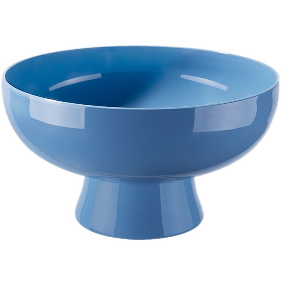 Saladeira Cake Coza Bowl Tigela Com Pedestal 2.4 Litros Azul Pote Salada Legumes Servir Sobremesa Cozinha Nota Fiscal