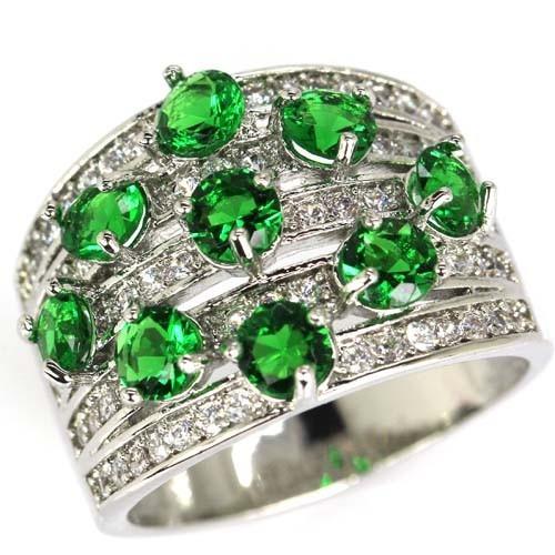 Tw Anel Turmalina Verde Zc Prata 925